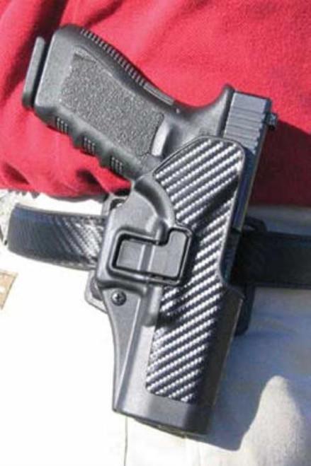 Blackhawk CQC Serpa Holster, For Glock 17/22, Carbon Fiber, Left Handed