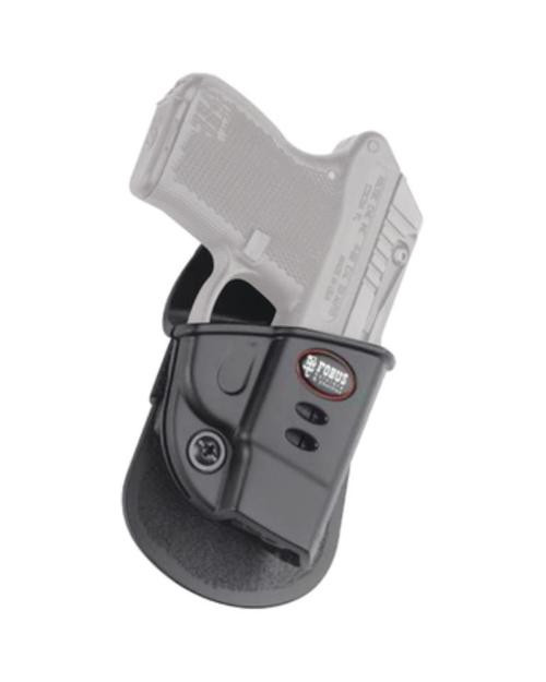 Fobus Evolution 2 Series Paddle Holster For Ruger LCP/Kel-Tec P-3AT .380 2nd Gen/.32 2nd Gen With Crimson Trace Laser Sight Black Right Hand