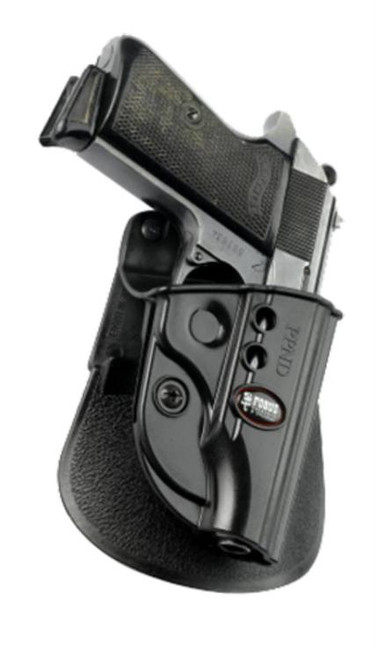 Fobus Evolution Paddle Holster, Fits Walther PPK, Right Hand, Kydex, Black