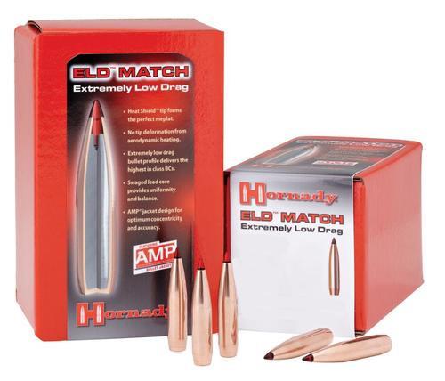 Hornady Rifle Bullets, .30 Cal, 208gr, ELD-Match, 100 Per Box, NOT LOADED