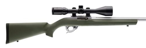 Hogue Overmold Rubber Rifle Stock Synthetic Olive Drab Green