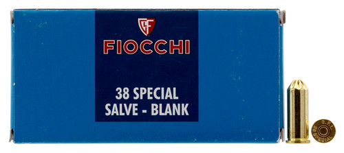 Fiocchi .38 Special Blank Cartridges, 50rd - Not Ammo, These are Blanks - Not Ammo, These Are Blanks