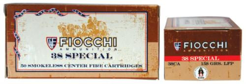 Fiocchi Cowboy Action .38 Special 158gr, Lead Flat Point, 50rd Box