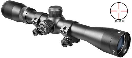 """Barska Plinker-22 4X22mm Obj, 3/8"""" Dovetail Rings Matte Black"""