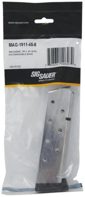 Sig 1911 Magazine 45 ACP 8 RD Exchangable Base