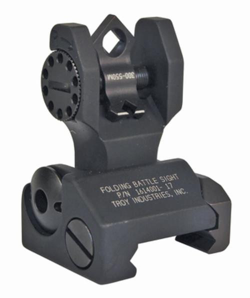 Troy Di-Optic Flip-Type Folding Rear Sight, Black