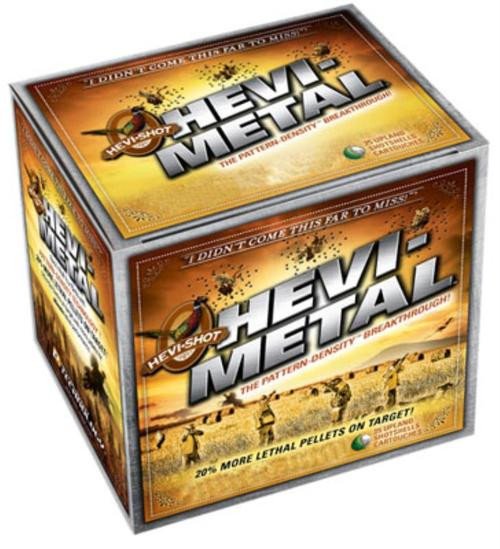 "HEVI-Shot HEVI-Metal Pheasant 12 Ga, 2.75"", 1-1/8oz, 4 Shot, 25rd/Box"