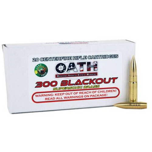 Oath Match Grade Super Sonic .300 AAC Blackout, 165 Gr, FMJ, 20rd/Box