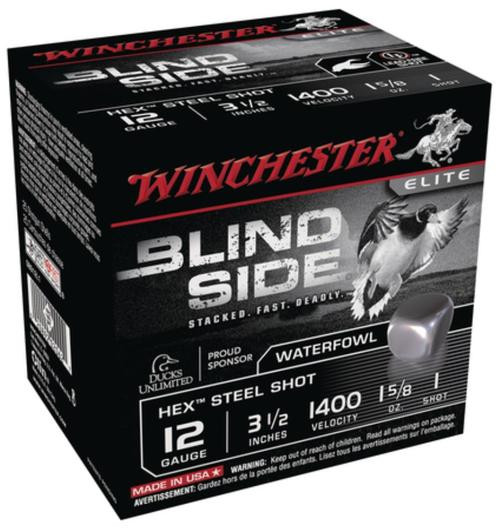 Winchester Blind Side Steel Hex Magnum Waterfowl 12 Gauge 3.5 Inch 1400 FPS 1.625 Ounce 1 Shot 25rd/Box