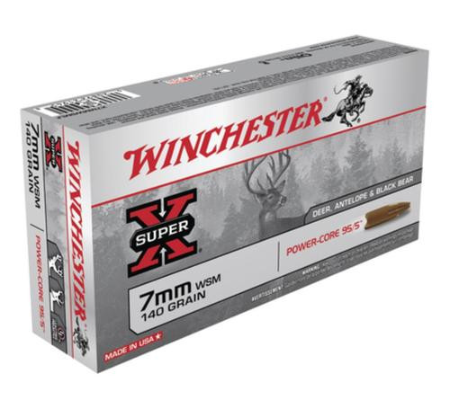 Winchester Super-X Power Core 7mm Winchester Short Magnum 140gr, Power Core 95-5 20rd Box