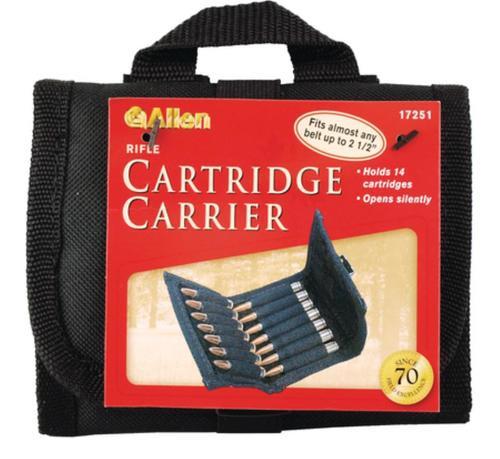 Allen Belt Rifle Ammo Pouch Black Holds 14 Rifle Cartridges