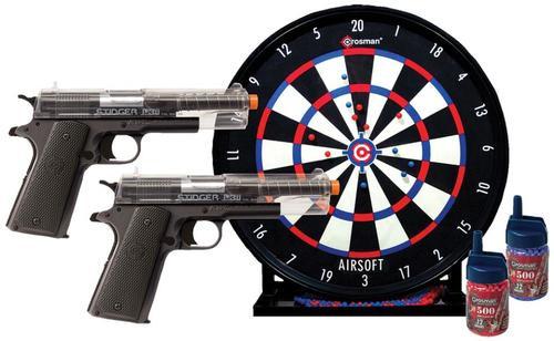 Crosman Stinger Challenge Kit 2 Pistol, Trgt 500 Rd+500 Blu BBs