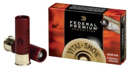 """Federal Vital-Shok 12 Ga, 3"""", 1700 FPS, 1oz, TruBall Slug, 5rd/Box"""
