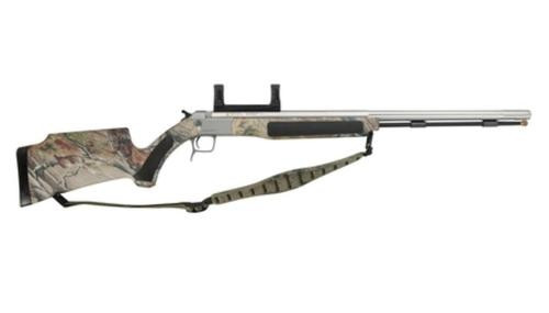 "CVA Accura V2 Muzzleloader .50 Caliber 27"" Fluted Stainless Steel Barrel Ambidextrous Composite Stock Realtree APG HD Camouflage Finish Integral DuraSight Dead-On Scope Mount"