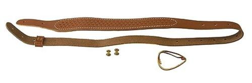 """Uncle Mike's Carry Strap Cobra Basketweave Leather 1"""" Swivel Size, Brown"""