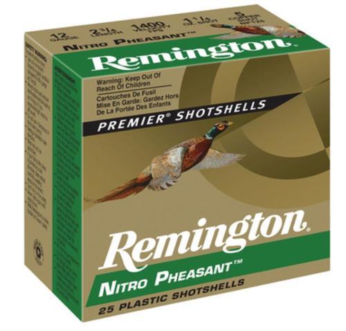 Remington Nitro Pheasant 12 Gauge, 2.75 Inch, 1400 FPS, 1.25 Ounce, 5 Shot, 25rd/Box