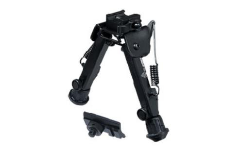 "Leapers, Inc. - UTG Super Duty Bipod, Fits Picatinny or Weaver Rail, 6"" - 8.5"", with QD Lever Mount, Black"