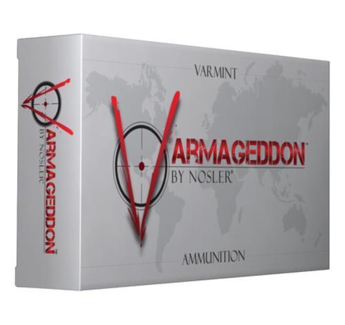 Nosler Varmageddon Varmint, 300 AAC Blackout, 110 Gr, Flat Base Tip, 20rd Box