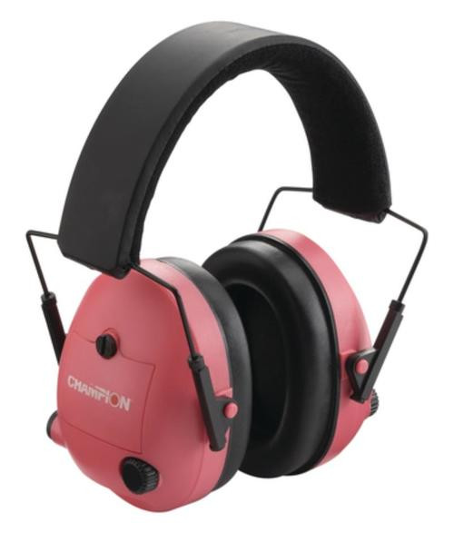 Champion Electronic Ear Muff 25 Db Noise Reduction, Pink