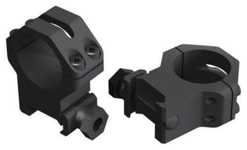 "Weaver Mounts Tactical Skeleton Rings 1"" High Matte Black"