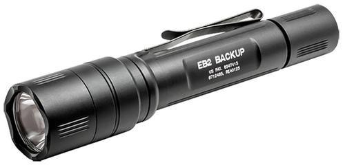 Surefire EB2 Backup LED 5/500 Lumens, CR123A (2), Click Switch, Alum Black