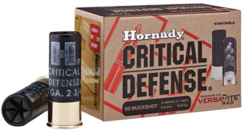 Hornady Critical Defense Superformance 12 Ga, 00 Buckshot, 10rd/Box