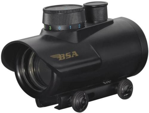 BSA Optics , Red Dot, 30mm Objective, 5MOA Red, Green, or Blue Dot, Black Color