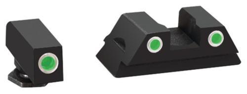 AmeriGlo Classic Tritium 3-Dot Night Sights For Glock 43 Green Front Green Rear