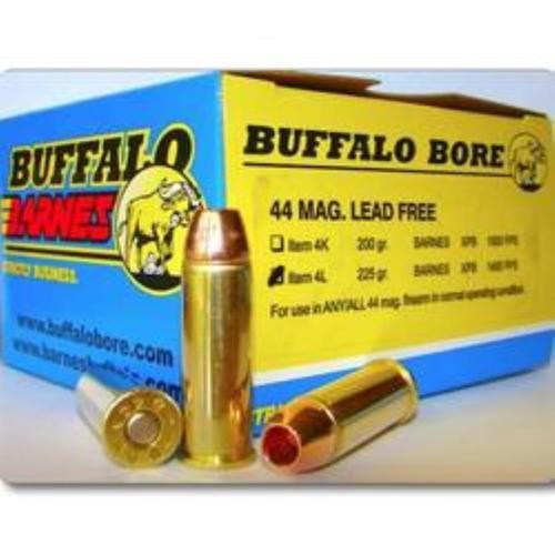 Buffalo Bore .44 Mag, 225 Gr, Lead Free Barnes XPB, 20rd Box