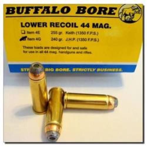 Buffalo Bore .44 Rem Mag Lower Recoil, 240 Gr, JHP, 20rd Box