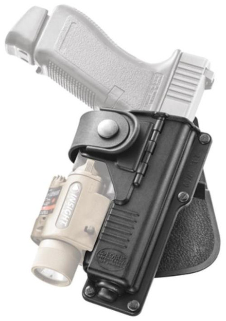 Fobus, Paddle Tactical Holster, Fits Glock 17/22/31 With Light Or Laser/S&W M&P 9mm/.40/Pro .45/Pro 9mm/Pro .40 With Light Or Laser, Right Hand