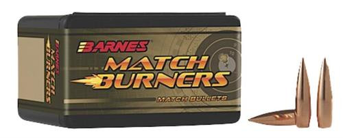 Barnes Bullets 22413 Rifle 22 Caliber .224 52gr Match Burners Flat Base 100 Box