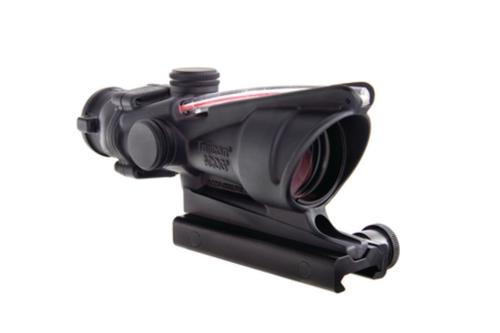 Trijicon ACOG 4x32 Scope With TA51 Mount Dual Illuminated Red Crosshair .223 Ballistic Reticle Black