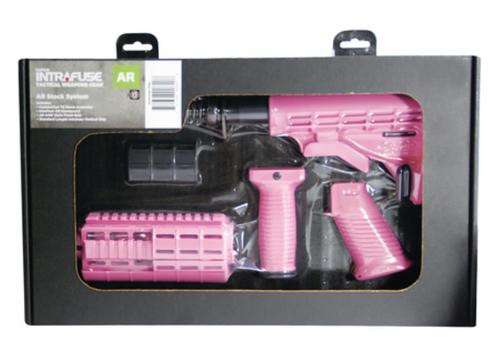Tapco AR-15 T6 Six-Position Collapsible Stock Pink