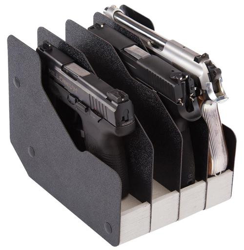 BenchMaster WeaponRac Four Pistol Black Synthetic