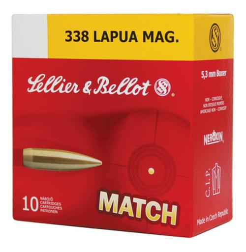 Sellier and Bellot .338 Lapua Mag Hpbt 250Gr 10Rd/Box