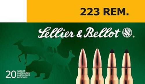 Sellier & Bellot 223 Rem 55gr, SP, 20Rd/Box