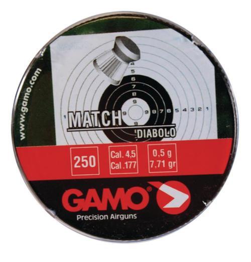 Gamo Flat Nose Pellets Match .177 Stainless
