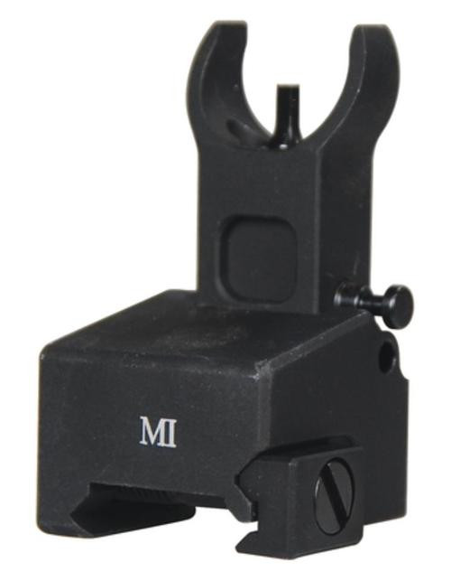 Midwest Locking Low Profile Flip-Up Front Sight For Gas Block Mounting Matte Black