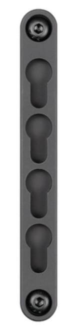 Midwest M-Lok To KeyMod Adapter 4 Slot Black