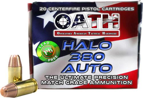Oath Halo .380 ACP, 90 Gr, FMJ, 20rd/Box