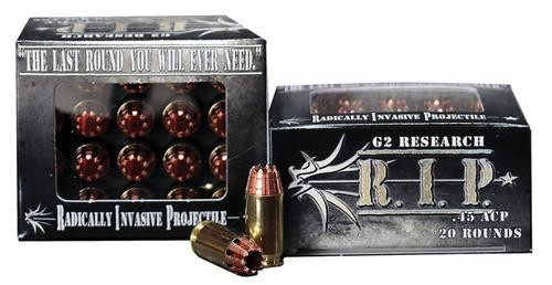 G2 RIP 45 ACP, 162gr, HollowPoint 20rd Box
