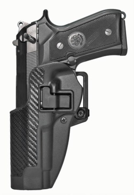 Blackhawk CQC Carbon Fiber Serpa Active Retention Holster Textured Black Left Hand For Beretta 92/96