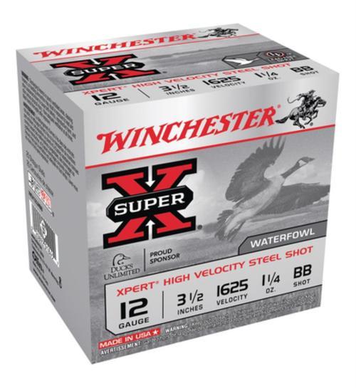 Winchester Super-X Xpert Steel Waterfowl 12 Ga, 3.5', 1625 FPS, 1.25OZ, BB Steel Shot, 25rd/Box