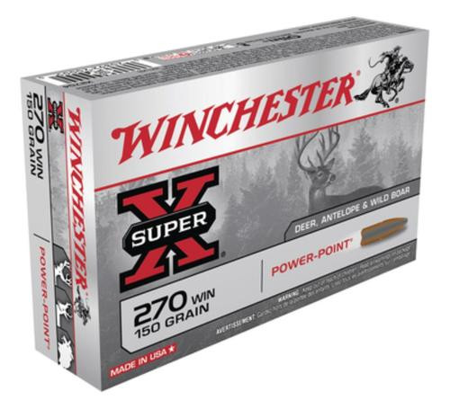 Winchester Super-X .270 Win 150 Gr, Power-Point, 20rd Box