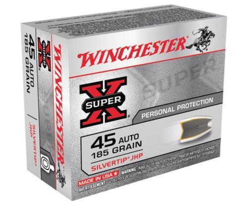 Winchester Super X 45 ACP Silvertip HP 185gr, 20Box/10Case