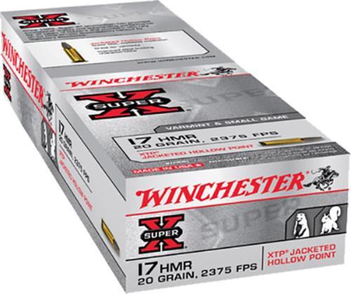 Winchester Super-X .17 HMR, 20 Gr, Xtp, 50rd Box