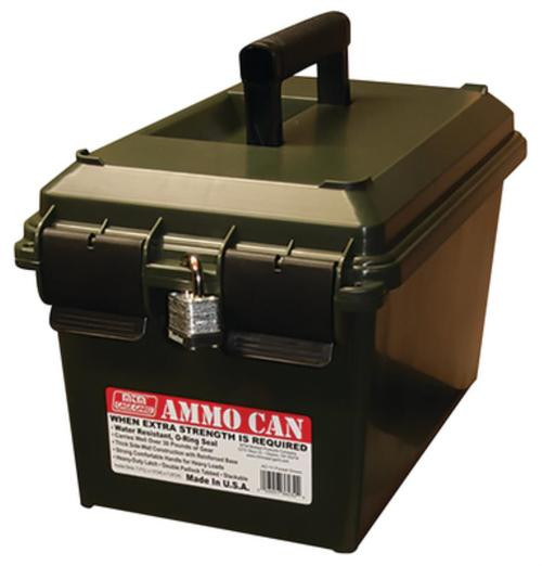 MTM Can Ammo Box Portable 750 cu. in. 25 lbs Polypropylene Forest Green