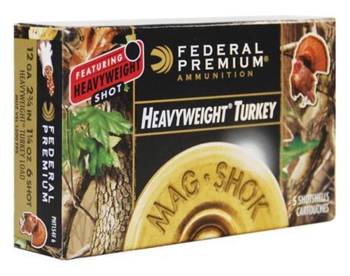 Federal Mag-Shok Heavyweight Turkey 12 Gauge 2.75 Inch 1300 FPS 1.25 Ounce 6 Shot