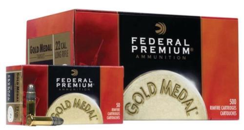 Federal Gold Medal Rimfire 22LR Target 40gr, Solid, 1080 FPS, 500rd/Case (10 Boxes of 50rd)